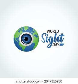 vector graphic of world sight day good for world sight day celebration. flat design. flyer design.flat illustration.