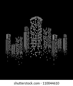 vector of graphical urban cityscape