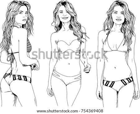 Something is. sketches of girls in bikinis many