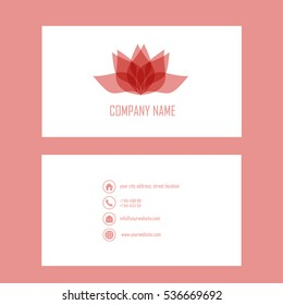 Vector graphics. Business card.