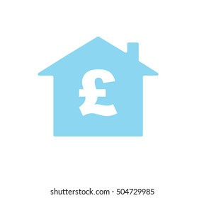 Vector graphics of a house and a pound symbol