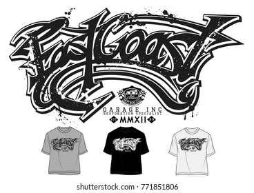 Vector graphics,East Coast t shirt graphics,