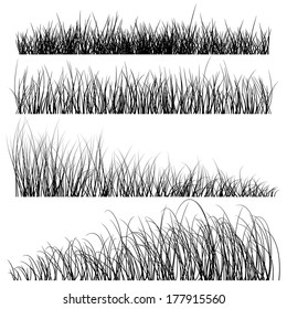 vector grass silhouettes