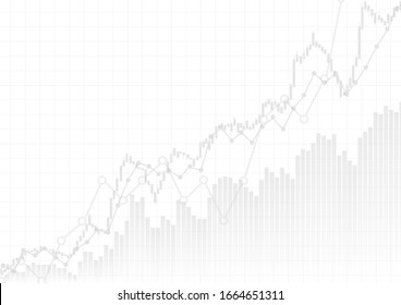 Vector : Gray business graphs on white background
