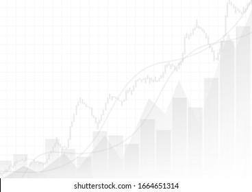 Image vectorielle: Graphiques d'affaires gris sur fond blanc