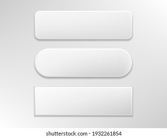 Vector gray buttons for computing and web isolated on white background.Eps 10.