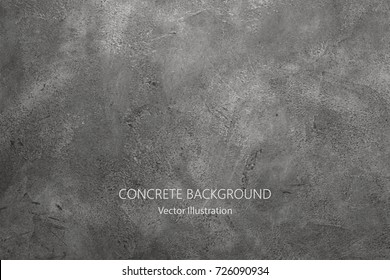Vector gray concrete texture. Stone wall background. - Shutterstock ID 726090934
