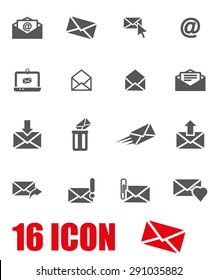Vector gray email icon set