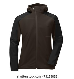 vector gray hoody jacket