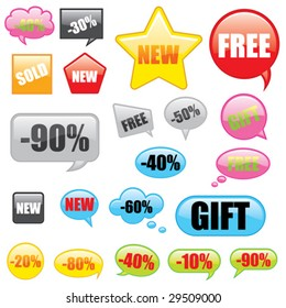 vector great collection of discount tags
