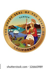 Vector Great Seal of the State of California