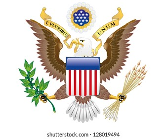Vector Great Seal of the United States of America