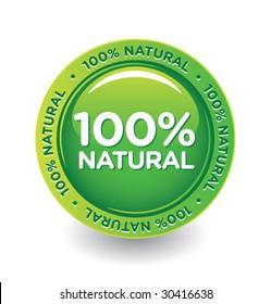 Vector Green 100 % Natural Label