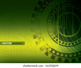 Vector Green Abstract Background.