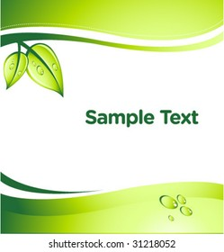 vector GREEN abstract background with place for your text