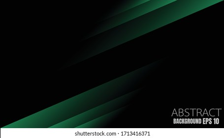 Vector green background with square shape overlays overlapping layers on dark areas for background design