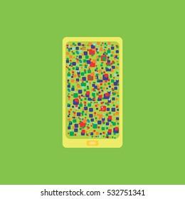 Vector Of Green Blank Smartphone