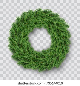 vector green christmas wreath