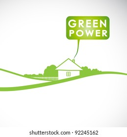 Vector green concept. Banner with nature and ecology elements.
