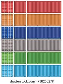 Vector of Green Container cargo