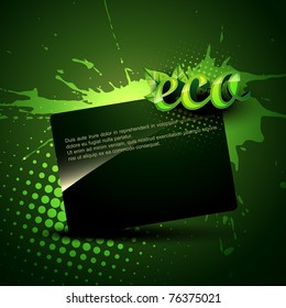 vector green eco background with space for your text