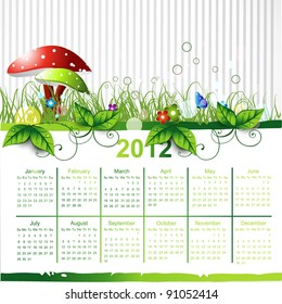 vector green eco calender design