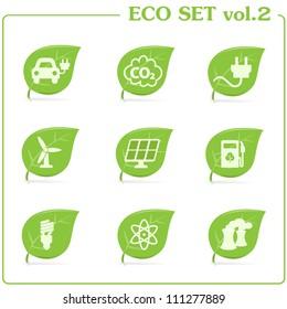 Vector green ecology icon set. Vol. 2