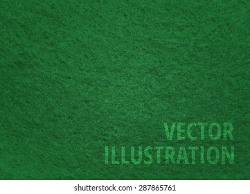 Vector green felt background for poker, snooker, and pool games tables: with text
