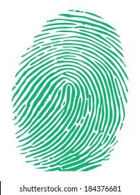Vector of a green fingerprint