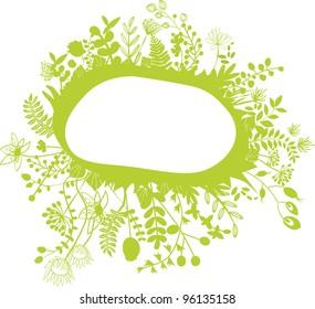 vector - Green flower composition