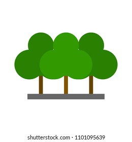 vector green forest illustration - vector tree, nature sign symbol - ecology icon