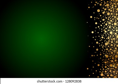 Vector Green And Gold Luxury Background