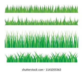 Vector green grass eco natural illustration design