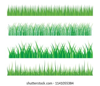 Vector green grass eco natural illustration design