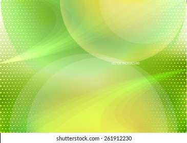 Vector green orange background in dynamic style