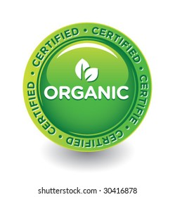 Vector Green Organic Label