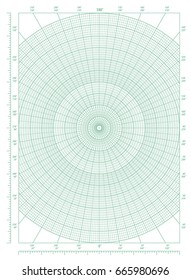 vector green polar coordinate circular grid stock vector royalty