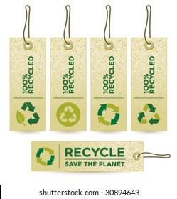 Vector GREEN RECUCLED Labels [3]
