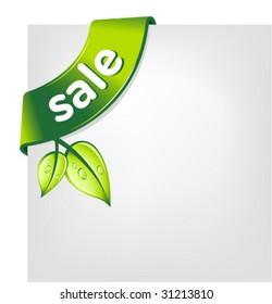 vector green SALE ribbon