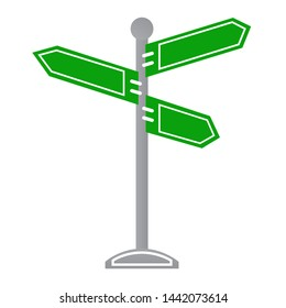 Vector green Signpost icon design. Road sign icon design. Vector signpost icon design. Vector illustration.