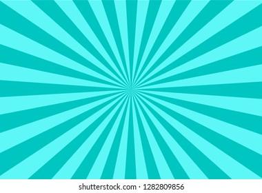 vector of green sun burst ray background
