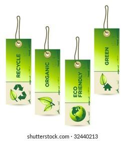 Vector GREEN Tag Labels [4]