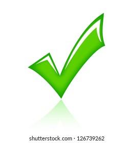 Vector green tick