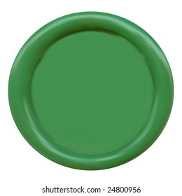 Vector Green Wax Seal with space for text