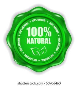 vector green wax seal template