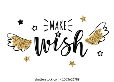 Wishing images stock photos vectors shutterstock vector greeting card with make a wish inscription can be used for cards m4hsunfo