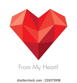 Vector greeting card for St. Valentine's Day