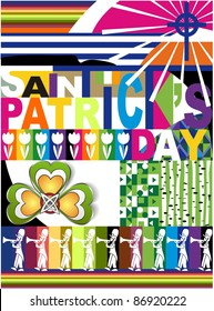 vector greeting card for St.Patrick's day