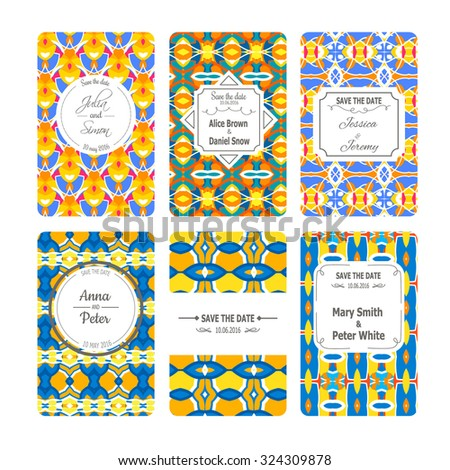 Vector Greeting Cards Collection In Indian Style Ideal For Save The Date Mothers Day