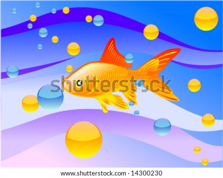 Vector greeting cards gold fish stock vector royalty free 14300230 vector greeting cards gold fish m4hsunfo